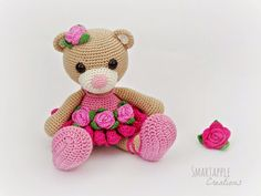 Bibi the Ballerina Bear amigurumi pattern is available by Smartapple Creations