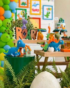 Boys First Birthday Party Ideas, Dinosaur Birthday Party, 3rd Birthday, Die Dinos Baby, Baby Dino, Baby Shower, Backdrops For Parties, First Birthdays, Party Themes
