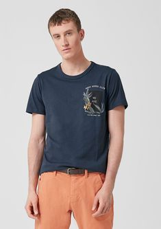 T-shirt de s.Oliver Jersey Shirt, Neue Trends, Shopping, Mens Tops, Fashion, Men's T Shirts, Men's, Outfits, Laundry Schedule