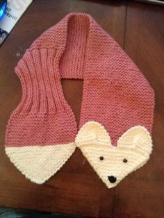 Hand Knit Fox Scarf Rose neck warmer by QuiltNCrochet on EtsyKids or Adults Adjustable Fox Scarf RoseHand Knit от QuiltNCrochetRose Fox Hand Knit scarf / neck warmer for Kids or Adults Made with acrylic yarn. The scarf is very cute warm and nice Size: A Fox Scarf, Baby Scarf, Hand Knit Scarf, Baby Knitting Patterns, Hand Knitting, Crochet Patterns, Crochet Scarves, Knit Crochet, Knitting Projects