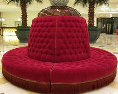 Round tufted sofa, can be built around pole | Design - Seating ...