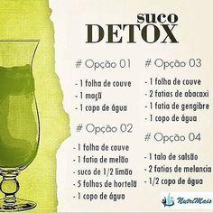 25 Receitas de Sucos                                                                                                                                                                                 Mais #sucodetox #detox #emagrecer #dieta