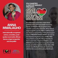 "Introducing @annamwalagho who will be joining us and performing at the @ithcharities + @faceofharvest charity event ""Give Back Malawi"". Watch her special performance and help provide #Malawian's with healthy livelihood and sustainability. Tickets and more information can be found in the link in our bio. ♥️"
