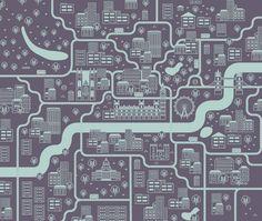 London City Map by DEEAIT x CREATES , via Behance