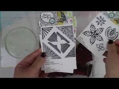 Round Gelli Plate + Balzer Designs Stamps - YouTube