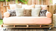 Wood pallets can be turned into winning pieces of furniture. Here, bloggers share their best projects that can be done in a weekend or less.