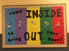 This is our Inside Out theme bulletin board!