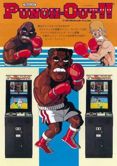Punch-Out! an arcade game created by Nintendo in Punch-Out! an arcade game created by Nintendo in Vintage Video Games, Classic Video Games, Retro Video Games, Vintage Games, Video Game Art, Retro Games, Vintage Decor, Vintage Stuff, Vintage Toys