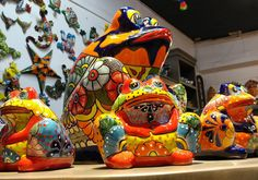 Talavera Mexican Handmade Frogs available in all sizes at Barrio Antiguo 725 Yale St Houston TX 77007 (713)880 2105