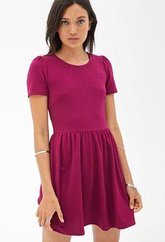 Geo-Textured Skater Dress