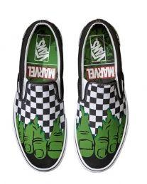 630f33b0661b9d Vans Classic Slip-On Kids Shoes (Marvel Hulk) at Black Wagon