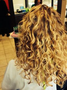 All over blond can also be created with custom highlights.