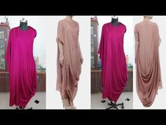 How to make draping gown/drees. Indian Fashion Dresses, Indian Designer Outfits, Abaya Fashion, Fashion Outfits, Drape Dress Pattern, Dress Sewing Patterns, Pattern Sewing, Logos Vintage, Logos Retro