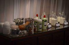 DIY coffee bar wedding reception