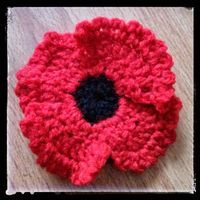 Crochet Poppy - free pattern by Celeste P-simple and quick