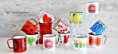 Finel and Arabia enamel mugs  Click to visit the Finel facebook page.