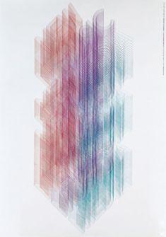 New Music Media ポスター コンピューターが使えない時代、写真焼き付け露光装置を発明してつくったポスターです。