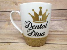 Dental Diva Coffee Mug / Custom Coffee Mug / by GuppyFishCreations
