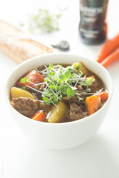 The BEST Slow Cooker Irish Guinness Beef Stew! @tasteslovely