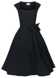 0785d8d3b756c Lindy Bop 'Grace' Classy Vintage 1950's Rockabilly Style Bow Swing Party  Dress Estilo Rockabilly