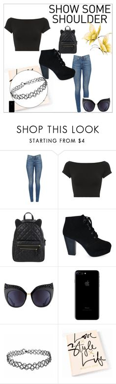 """""""Show Me Some Shoulder"""" by ursulachenui ❤ liked on Polyvore featuring Helmut Lang, Accessorize and Anna-Karin Karlsson"""