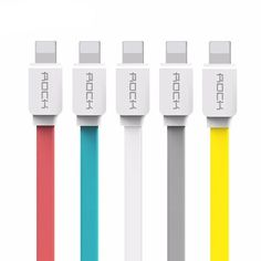 USB Cable for iPhone  X 8 7 6 6s SE 5s - iPad mini/air/pro Type: 8 Pin Compatible Brand: Apple iPhones Brand Name: Rock Has Retail Package: Yes Compatible Model 1: For iPhone X/8/7/7 plus/5/5s/SE/5C/6/6s/6 plus/6s plus Compatible Model 2: For iPad Air/iPad Air 2/iPad Pro/iPad mini/mini2/mini3/mini4/iPad 3/4 Compatible Model 3: For iPod nano(7th generation) / iPod touch(5th/6th generation) Feature: Anti-wrap Flat Cable