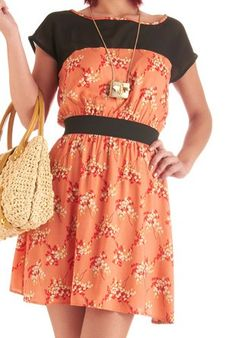 plesant valley sweety dress in coral