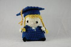 Amigurumi Graduate Doll by BelioCrochet on Etsy