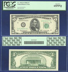 """#New post #FR 1965-D FEDERAL RESERVE NOTE 1950-D CLEVELAND $5 PCGS 65 PPQ GEM UNC  http://i.ebayimg.com/images/g/LiMAAOSw241YhYg4/s-l1600.jpg      Item specifics   Seller Notes: """"Graded by PCGS as 66 PPQ""""       Circulated/Uncirculated:   Uncirculated       FR 1965-D FEDERAL RESERVE NOTE 1950-D CLEVELAND $5 PCGS 65 PPQ GEM UNC  Price : 24.99  Ends on : 5 hours  View on eBay  Post... https://www.shopnet.one/fr-1965-d-feder"""