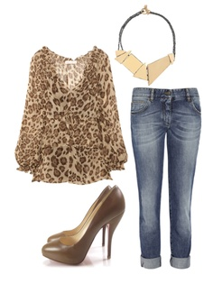 I love leopard print and love how it was set as a casual day wear with flare....