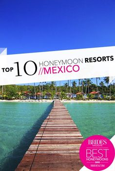 After the wedding is over, comes the best party—the honeymoon. Here's everything you need to know to plan the perfect honeymoon, from booking tips to the most awe-inspiring and romantic destinations. Top 10 Honeymoon Destinations, Mexico Honeymoon, Honeymoon Style, Best Honeymoon Destinations, Romantic Destinations, Honeymoon Ideas, Mexico Resorts, Cancun Mexico, Honeymoon Inspiration
