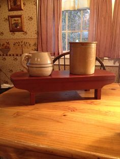 Primitive Table Riser/Wood Hand Crafted Bench by VintageTrimmings, $40.00