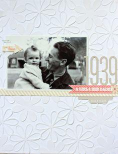 Daddies little girl by Kerri Bradford Love the tone on tone die cut background Scrapbooking Freebies, Heritage Scrapbooking, Digital Scrapbooking, Scrapbook Cards, Scrapbook Templates, Scrapbook Designs, Kids Photo Album, Photo Layouts, Life Inspiration
