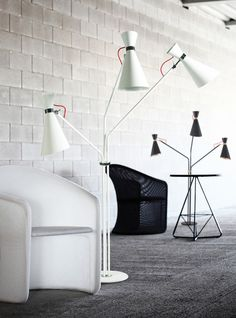Lámpara de pie muy original...