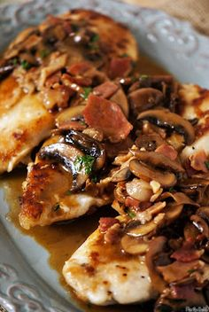 Chicken Marsala - this is SO good, healthy and easy and great way to use boneless skinless chicken breast