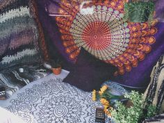 hippie mandala tapestry. costs are intermediate depending on where you get/buy them from and also the brand.