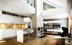 Tyyliä kodikkaasti. A la Carte -keittiöt, Neve. Tasoina valkoinen laminaatti ja massiivitammi. | #keittiö #kitchen