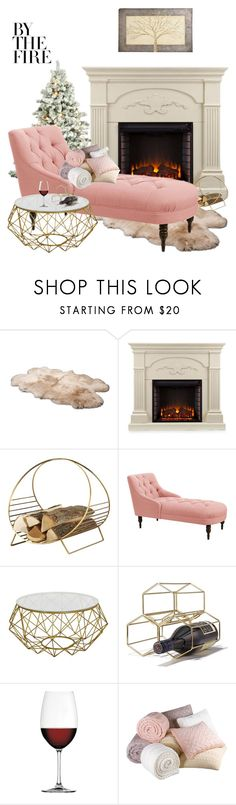 """By the fire"" by andreea-bianca-c ❤ liked on Polyvore featuring interior, interiors, interior design, home, home decor, interior decorating, UGG Australia, Southern Enterprises, Avon and Nachtmann"