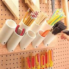 Pvc Pipe Storage Ideas. These are great!