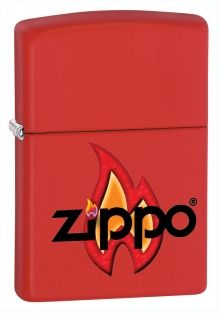 Flame Zippo lighter now available from Zippo UK now only £17.50 Red Matte. Packaged in an environmentally friendly gift box. Lifetime Guarantee