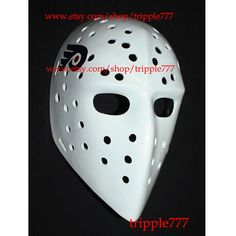 RARE custom vintage style fiberglass NHL air ice hockey goalie mask helmet - Bernie Parent HO103