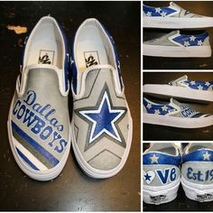 fcfba591bfd4 Dallas Cowboys - custom hand painted shoes - visit my business page on FB  to order yours in ANY theme www.facebook.com loveleyni