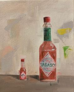 """Joy Liu on Instagram: """"Special thanks to @floryang  #tabascosauce  #oilpainting #stilllifepainting  #asadclaw #paintingpractice  #friday #art #dailypaintings #red…"""" Interesting Stuff, Friday, Thankful, Joy, Painting, Instagram, Glee, Painting Art, Paintings"""