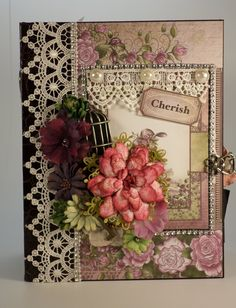 PART 1 TUTORIAL HEARTFELT CREATIONS RAINDROPS ON ROSES MINI ALBUM - DESI...