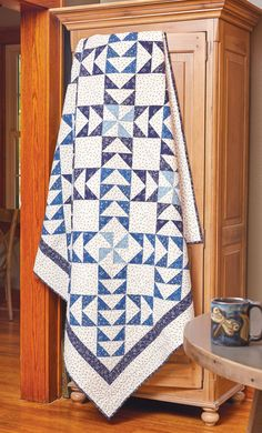 Flying Geese quilts are traditional standards in quilting. Barbara J. Eikmeier made Goose Crossing for lovers of piecing and two-color quilts!