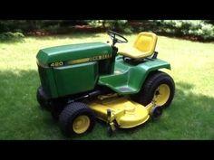 John deere 420 garden tractor | Agro Machinery http://www.agromachinery1.com/video_listing/john-deere-420-garden-tractor/