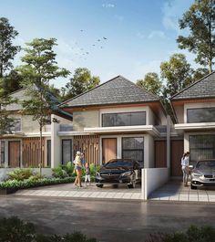 Modern Minimalist House, Minimalist Architecture, Facade Design, Exterior Design, Residential Architecture, Architecture Design, Cluster House, Roof Cladding, Tropical House Design