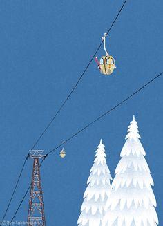 三菱UFJリサーチ&コンサルティングが発行する会報誌『SQUET』2014年12月号の表紙イラストレーションを担当しました。 Cover illustration for Squet magazine, December 2014 issue.