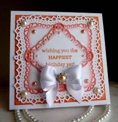 "Stampin up, Spellbinders - Handmade ""Birthday Day"" card  - New"