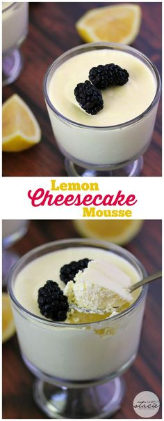Lemon Cheesecake Mousse -  a delightful no-bake dessert made with only three ingredients! Each bite is rich, creamy and packed with flavor!